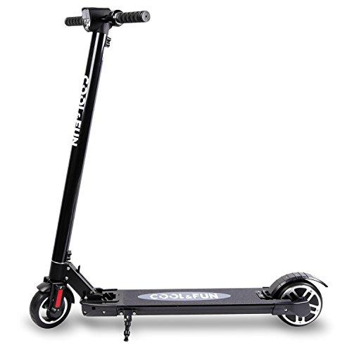 Cool&Fun HB2 Elektroscooter Elektroroller Cityroller 250W 120kg 6600mAh Tragetasche mit LG Akku schwarz