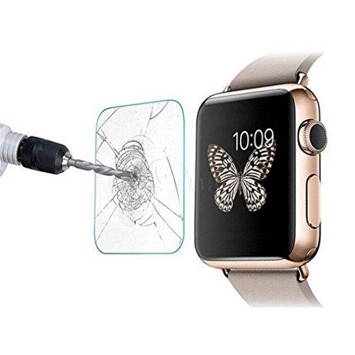 Apple Watch SERIES 3 42mm vergüteter Film ★ Premium gehärtetes Glas Displayschutzfolie für Apple Watch Serie 3 42mm