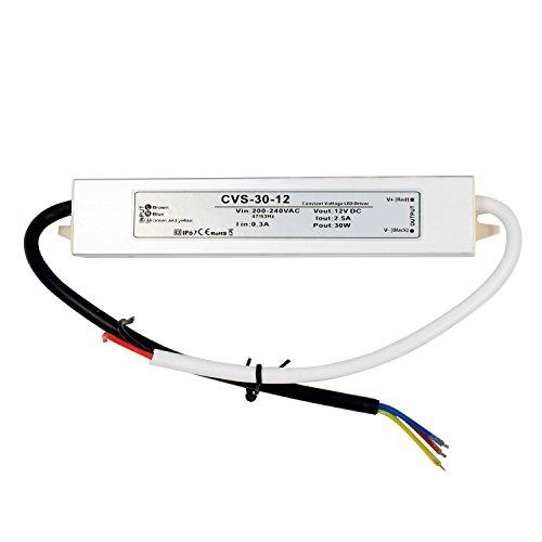 Auforua® AC 220 V a DC 12 V 30W 2,5A Estabilizado Fuente de Alimentac