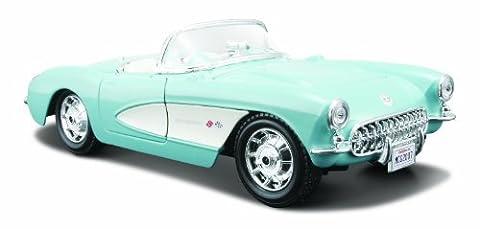 Maisto - 31275bk - Véhicule Miniature - Modèle À L'échelle - Chevrolet Corvette 1957 - Echelle 1/24 by