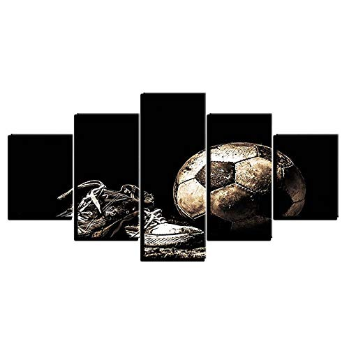 Shopxi Fußballschuhe leinwand malerei Druck 5 stücke wandkunst Rahmen Poster modulare HD druckplakat Wohnzimmer Dekoration