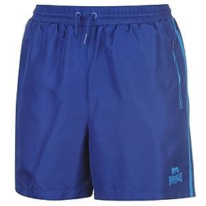 Lonsdale Herren 2 Streifen Gewebte Shorts Training Kurze Hose Kordelzug