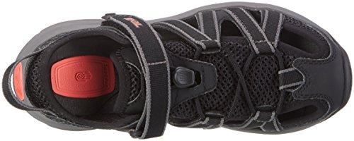 Teva W Rosa, Chaussures d'Athlétisme Femme Multicolore (Black/coral)
