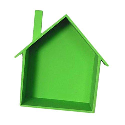 Homyl Holz Hängeregal Bücherregal, CD DVD Regal,viele Farbwahl - Grün Bücherregal Grün