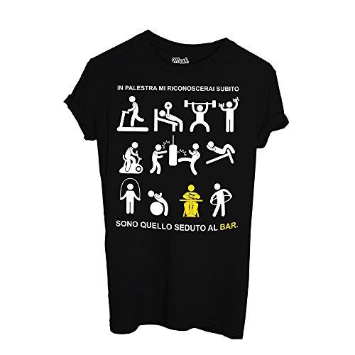 MUSH T-Shirt Anti Fitness Palestra Vs Bar by Dress Your Style Nera