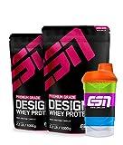 ESN Designer Whey, 2 x 1kg Beutel in allen Geschmacksrichtungen + Gratis ESN Shaker - 2kg 2 x Vanilla (Classic)