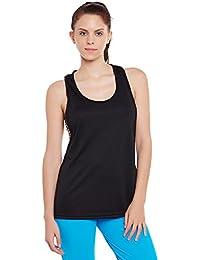 Clovia Women Activewear Tank Top with Animal Print