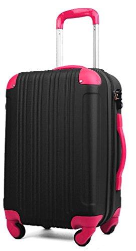 スーツケース (Sサイズ(3~5泊/47(拡張時56)L), ブラック/マゼンタ)