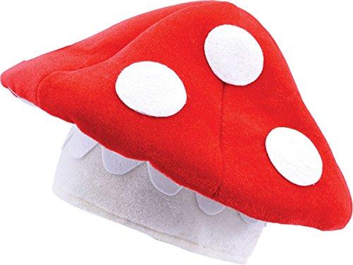 Erwachsene Unisex Mario Kostüm Zubehör Toad Hocker Pilz Hut