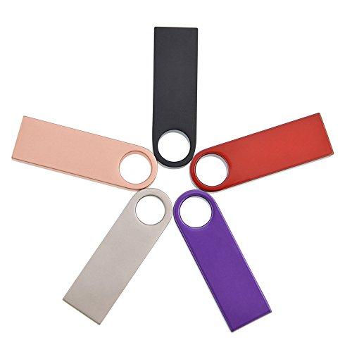 Chiavetta USB 8GB 5 Pezzi Pennette USB, Portatile Penna USB Mini Portachiavi Pendrive Kepmem Colore Chiave USB 2.0 Memoria Stick Economica Regalo