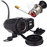 Auto Hub Waterproof Bike Charger with Cigarette Lighter- Black