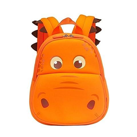 Yisibo Enfants Sac à dos Maternelle Sac à dos Environnement 3D Cartoon Animal Mignon Cartable Zoo Randonnée Voyage Camping Toddler Sidekick Paquet