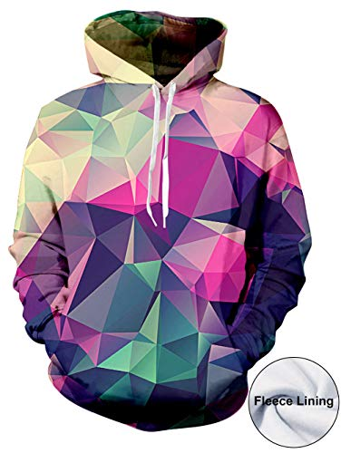 Unisex 3D Hoodie Pullover Jungen Mädchen Neuheit Geometrie Print Hooded Pullover Sweatshirt Für Herbst Winter L