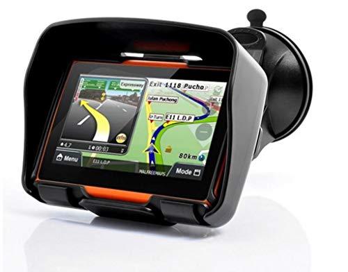 Elebest W4 Navigationsgerät 4,3 Zoll für PKW,Motorrad,Wasserdicht,GPS,Bluetooth,Kostenlose Kartenupdate,Neuste Europa Karten sowie Radarwarner