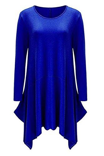Hamaliel - Robe - Trapèze - Femme Bleu