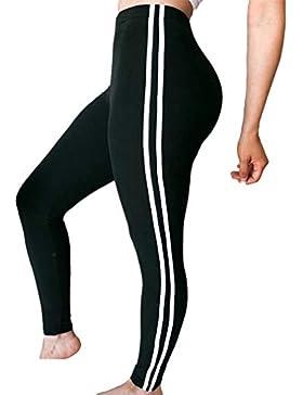 Yying Pantalones de Yoga sólido de Las Mujeres Leggings de Entrenamiento Medias Ejercicio Fitness Gimnasio Compresión...