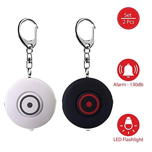 Tritace Taschenalarm - 2er Set Personenalarm Schlüsselanhänger Schlüsselalarm mit 130db Sirene und LED Leuchte | Selbstschutz für Frauen und Kinder