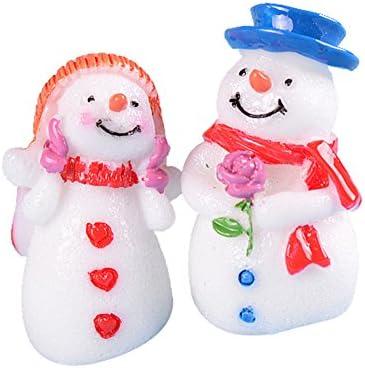 Ruikey Bonhomme de de de Neige Couple Micro Paysage Decoration Miniature OrneHommes t Cadeau de Noël Bonsaï Jardin | En Ligne Outlet Store  875576