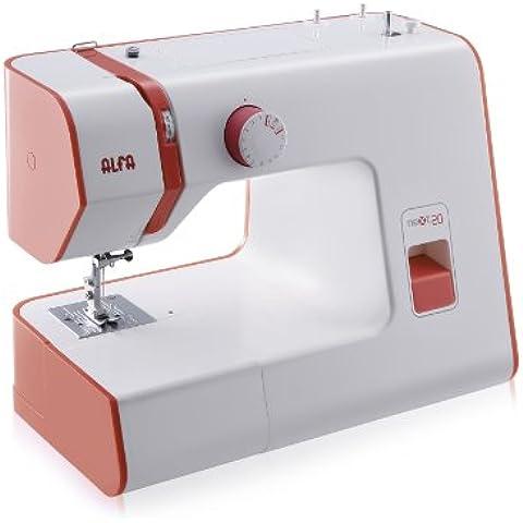 Alfa NEXT 20 Spring - Máquina de coser con 13 puntadas, color rojo coral
