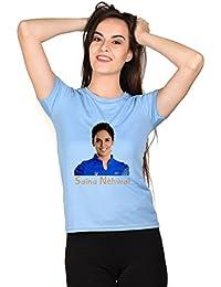 Saina-Nehwal-Blue-Girls-T-shirt
