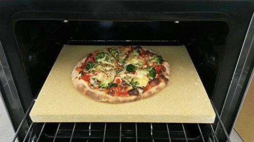 Preisvergleich Produktbild Pizzastein Pizzaplatte Steinofen Flammkuchen 40x30x3cm