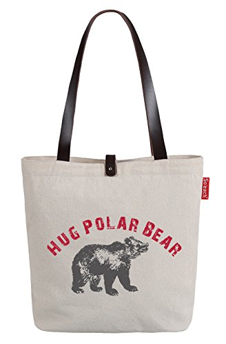 soeach-womens-polar-bear-letters-graphic-top-handle-canvas-tote-shoulder-bag