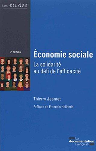 conomie sociale - La solidarit au dfi de l'efficacit - 3e dition