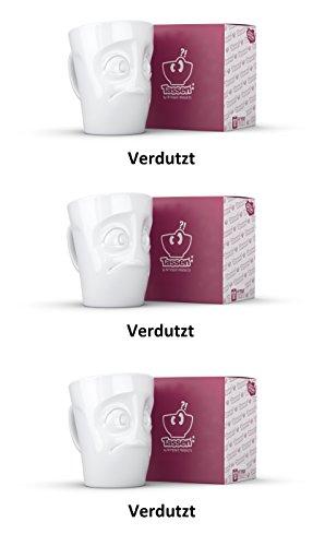 FIFTYEIGHT PRODUCTS TV Tassen Henkelbecher Henkeltasse Verdutzt je 350ml; 3er Set