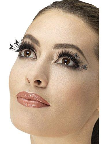 Fever Damen Schmetterling Wimpern Set, Kleber inklusive, One -
