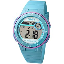 Limit Active Girl's Digital Watch with LCD Dial Digital Display and Blue Plastic Strap 5558.24