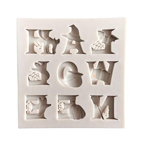 on Gussform Kuchen Fondant Gussform Schokolade Gussform EIS Gussform Halloween Stil Fondant Kuchen Dekoration Bpa-Frei für Wohndeko - Bild Farbe ()