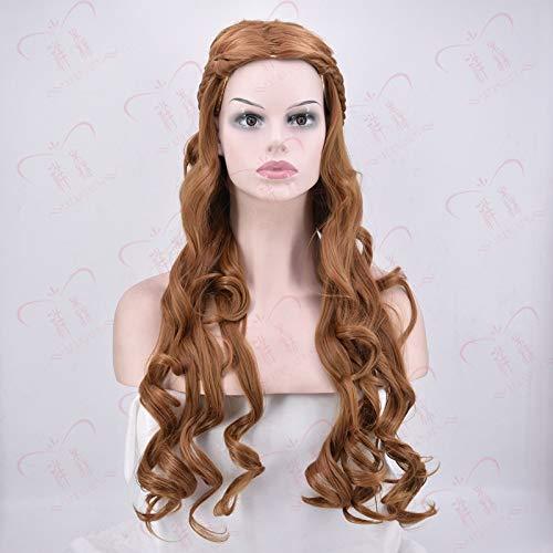 Lange lockige Haare Gericht cosmiddle Abschied große Welle Perücke Königin Prinzessin Braid aristokratische lange lockige Haare 75cm durch WIG MINE