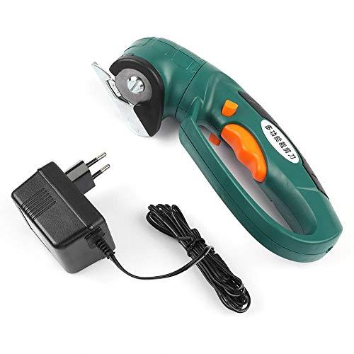 Akozon Elektrische Schere 3.6V elektrische wiederaufladbare Schere Cutter Stoff Stoff Schneidemaschine(EU stecker)