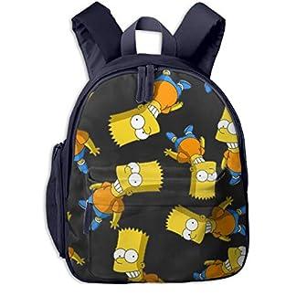 Simpson Mini Mochila para niños, Mochila Plegable para guardería, Preescolar, para niños y niñas