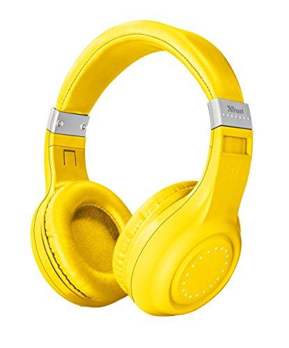 Auriculares inalámbricos amarillos con Tecnología Bluetooth - Trust