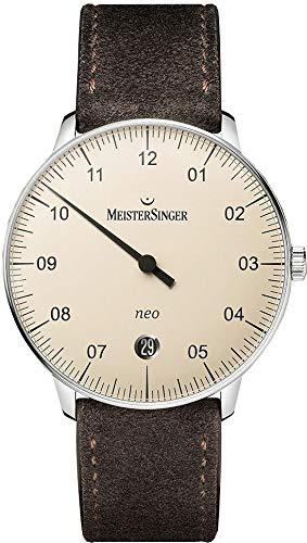 MeisterSinger Herrenuhr Einzeigeruhr mit Zusatzfunktion Automatik Neo NE903N (Uhr Meistersinger)