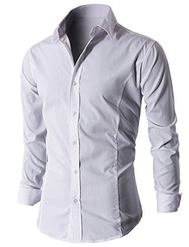 Lyon Becker - Chemise casual - Manches Longues - Homme Blanc