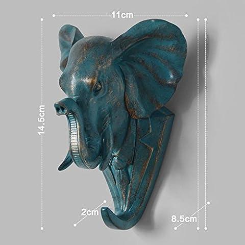 Creative décoratif crochets polyresin animaux Cerf tête tête mur patères crochet derrière la décoration de (Polyresin Ganci)