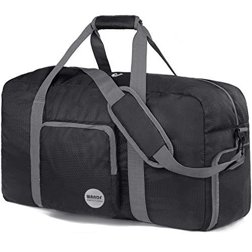 Faltbare Reisetasche 100L, Superleichte Reisetasche für Gepäck Sport Fitness Wasserdichtes Nylon von WANDF