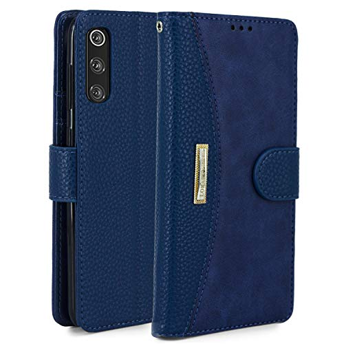 LOKAKA Leder Handyhülle für Samsung Galaxy A50, Handyhülle Handystand Kartenfächern Lu