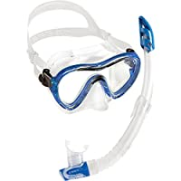 Cressi Sky & Gamma PREMIUM Snorkel Adult Combo Set - Blue, Yellow, Aquamarine - Made in Italy