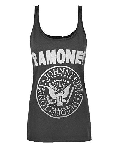Braun Cami Tank Top (Damen - Amplified Clothing - Ramones - Tank Top (L))