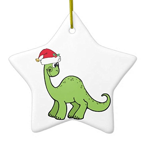Christmas Ornaments Holiday Tree Ornament Green Christmas Kids Dinosaur Santa Both Sides Star Ceramic Ornament Crafts Christmas Gifts