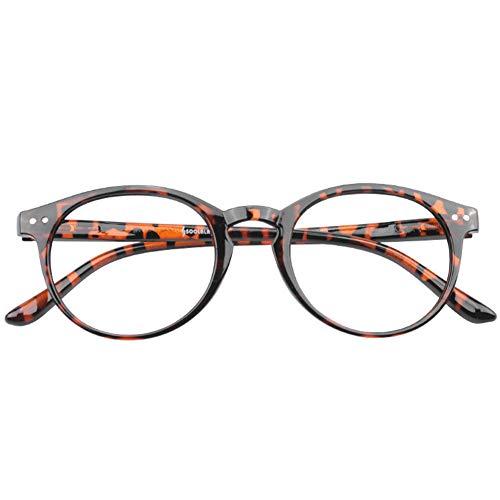 YUNCAT Lesebrillen Federscharnier Lesehilfe Augenoptik Vintage Retro Qualität Vollrandbrille Damen Herren 1.0 1.25 1.5 1.75 2.0 2.25 2.5 3.0 3.5 4.0