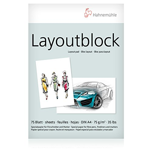 Hahnemühle 10625040 Layout Block A4 75g