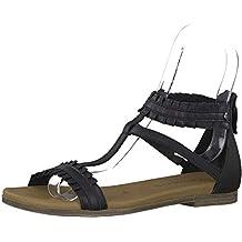 leder sandalen tamaris absatz schwarz