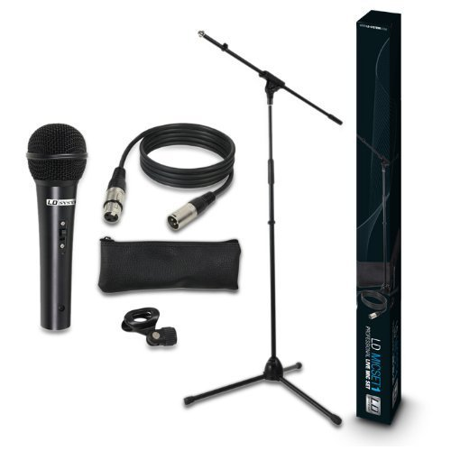 LD Systems MIC SET 1 - Microphone Set with Microphone, Stand, Cable and Clamp