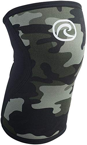 Neopren-kniebandage (Rehband Kniebandage Neopren 5 mm, Camouflage, L, 7751X-12-4)