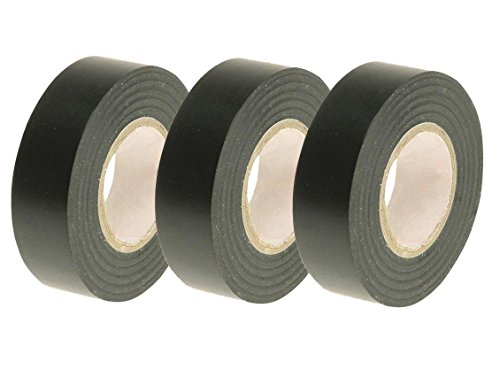 Preisvergleich Produktbild Car Alarm Ice Audio Radio Fitting Cable 3x Pvc Black Insulation Tapes Top Grade