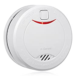 Unofire X-Sense DS32 10-Year Extended Battery Life Home Smoke Detector Fire Alarm with Photoelectric Sensor; Easy Installation